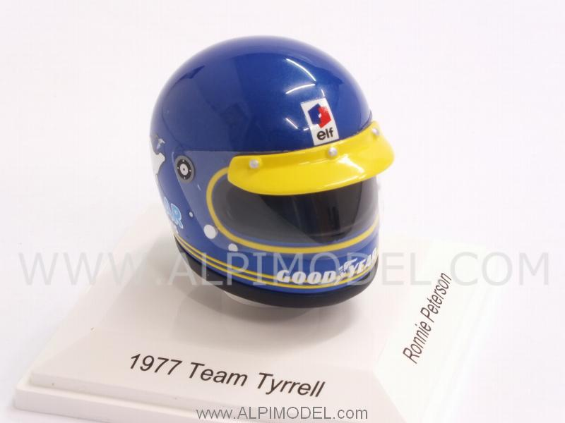Helmet Team Tyrrell 1977 Ronnie Peterson  (1/8 scale - 3cm) - true-scale-miniatures
