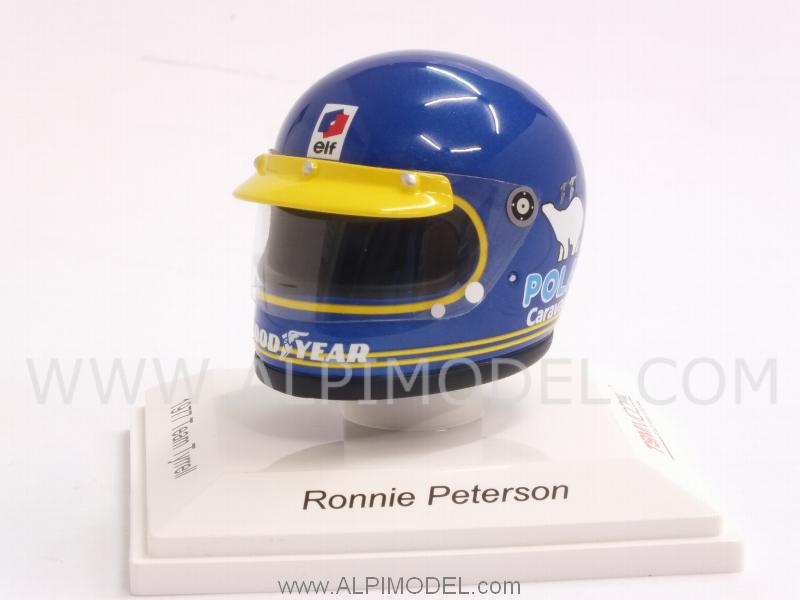 Helmet Team Tyrrell 1977 Ronnie Peterson  (1/8 scale - 3cm) by true-scale-miniatures