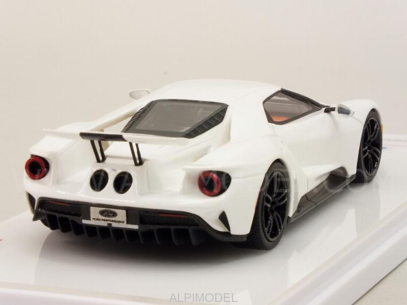 Ford Gt Race Mode  Frozen White True Scale Miniatures