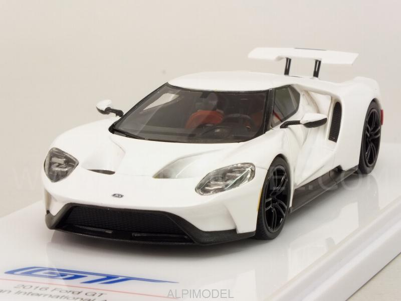 Ford Gt Race Mode  Frozen White By True Scale Miniatures