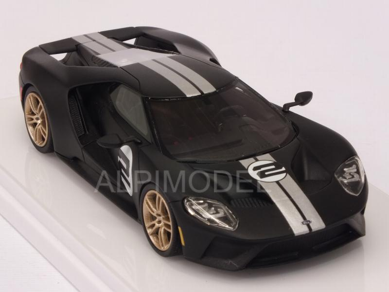 Ford GT Heritage Edition 2017 (Matt Black) - true-scale-miniatures