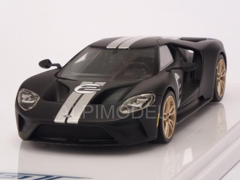 Ford GT Heritage Edition 2017 (Matt Black) by true-scale-miniatures