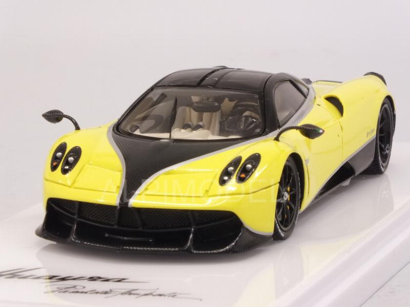 Pagani Huayra Pacchetto Tempesta 2016 (Yellow Ginevra) by true-scale-miniatures