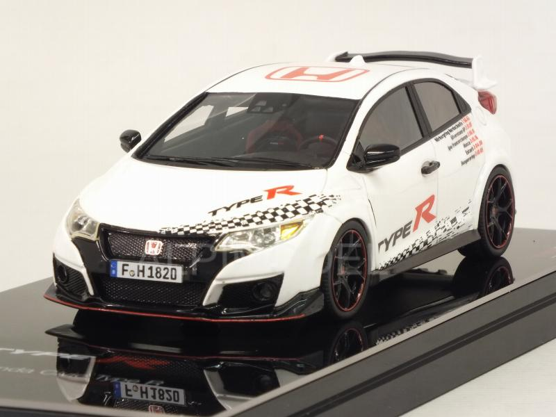 Honda Civic Type R 2016 Five European Tracks Front-wheel Drive Record by true-scale-miniatures