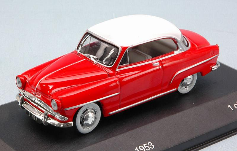 Simca Aronde Grand Large 1953 (Red/White) by whitebox