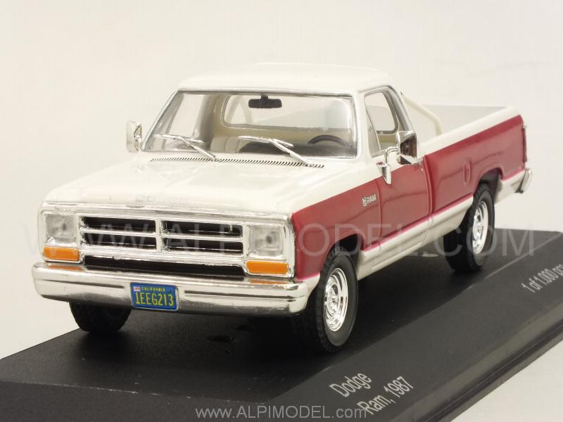 Truck And Car >> whitebox Dodge RAM 1987 (Red/White) (1/43 scale model)