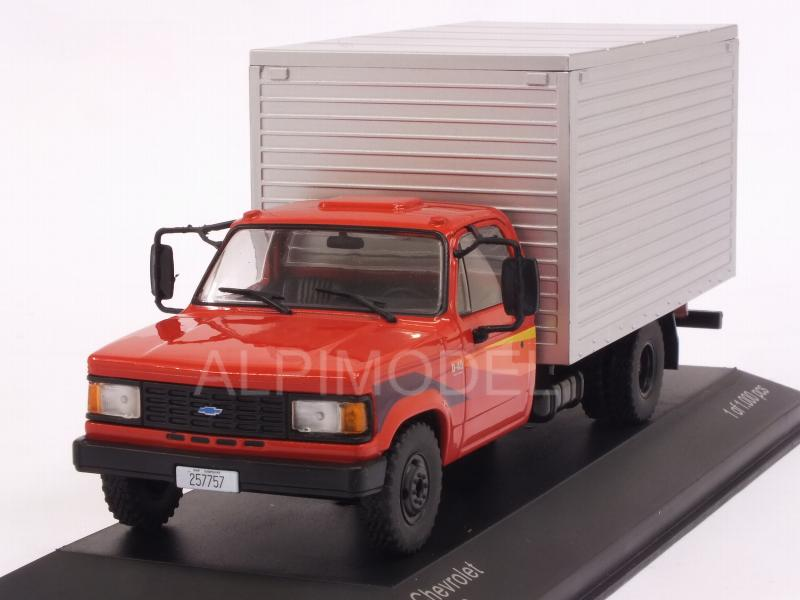Chevrolet D-40 Box Truck  Baujahr 1985  rot silber 1:43 Whitebox IXO WB 267 NEU