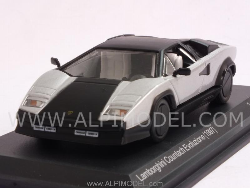 Lamborghini Countach Evoluzione 1987 Silver Black 1 43 Model Wb512