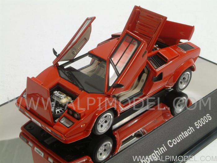 auto art lamborghini countach 5000 s red with opening. Black Bedroom Furniture Sets. Home Design Ideas