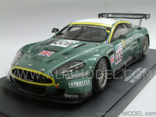 auto art aston martin dbr9 009 le mans 2007 1 18 scale model. Black Bedroom Furniture Sets. Home Design Ideas