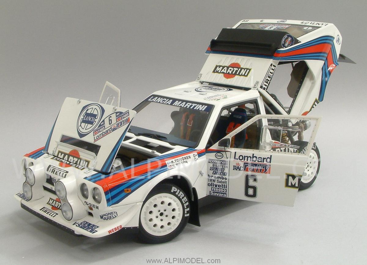 Lancia Delta S4 Martini 6 Winner RAC Lombard Rally 1985 Toivonen