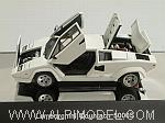 Lamborghini Countach 5000 S (White)  with opening parts by AUTO ART
