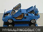Lamborghini Countach 5000 S (Blue)  with opening parts by AUTO ART