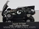 Jaguar D-Type #6 Winner Le Mans 1955 Hawthorn - Bueb (with engine details) by AUTO ART
