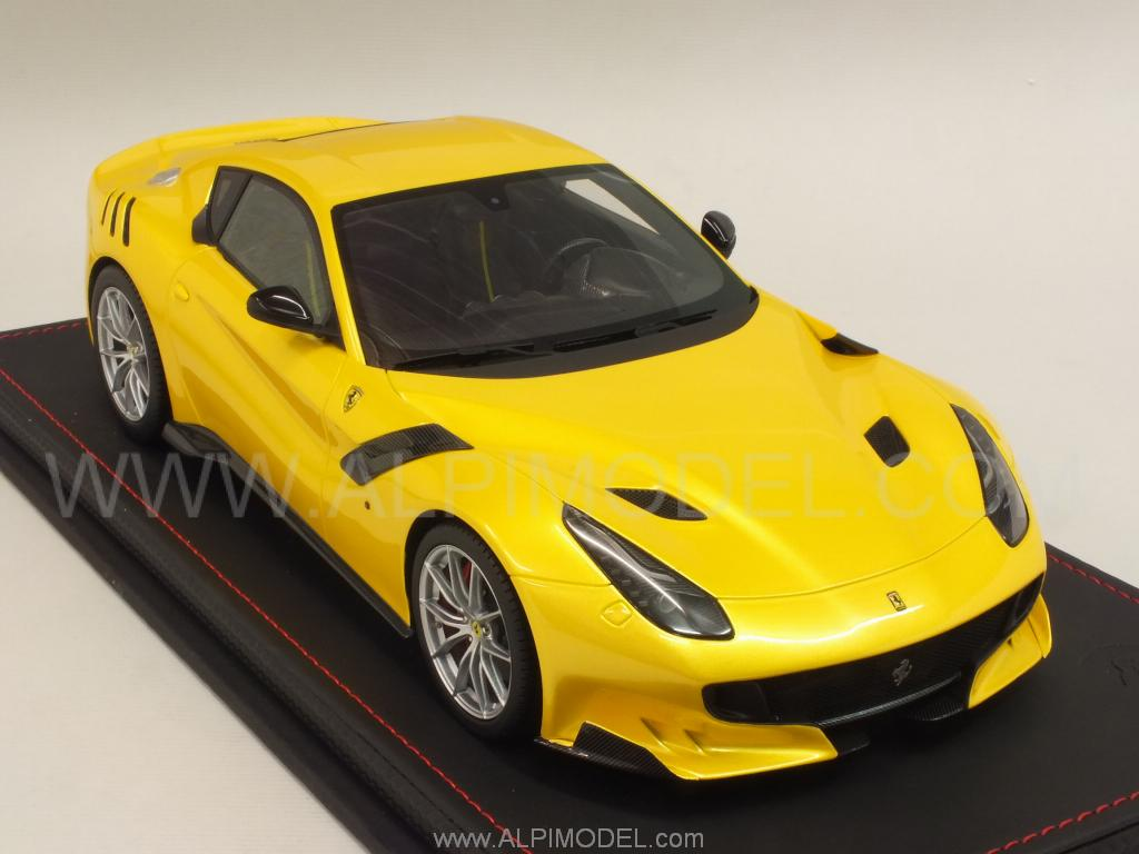 Ferrari F12 TDF2016 (Rosso Corsai)  with display case and Alcantara  base by BBR