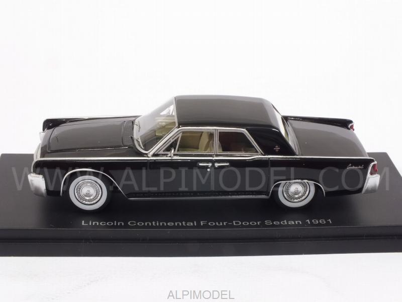best of show lincoln continental 4 doors sedan 1961 black 1 43 scale model. Black Bedroom Furniture Sets. Home Design Ideas