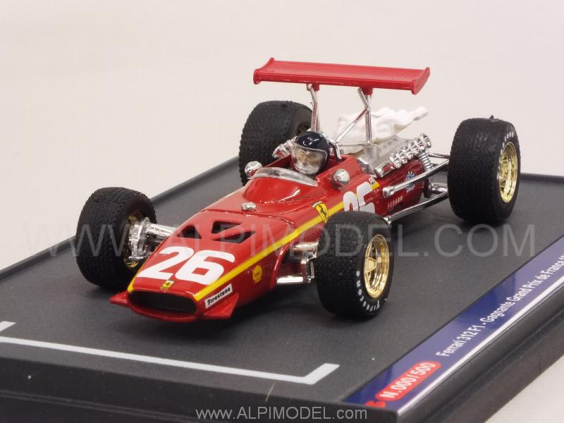 brumm s0804b ferrari 312 f1 39 ickx factor 39 gp france 40th anniversary 1968 2008 jacky ickx 1 43. Black Bedroom Furniture Sets. Home Design Ideas