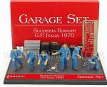 Garage Set Scuderia Ferrari GP Italy 1970 by BRUMM
