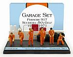 Garage Set 1970-71 Porsche Team JWA - Gulf by BRUMM