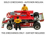 Two mechanics figures for 126CK (BRU.P002/P003/P004) (car NOT included/auto NON inclusa) by BRUMM