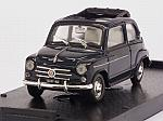 Fiat 600D Trasformabile open 1960 (blue) by BRUMM