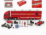 Ferrari Race Transporter Complete Set Plus 1982 Fiat Iveco Truck+ 2xFerrari 126C2  + accessories by BRUMM
