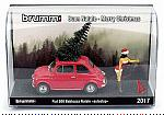 Fiat 500F 1965 Babbazza Natale AUTOSTOP (black hair/mora)  Christmas Special Edition by BRUMM
