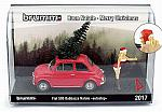Fiat 500F 1965 Babbazza Natale AUTOSTOP (blonde/bionda) Christmas Special Edition by BRUMM