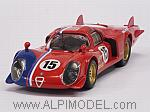 Alfa Romeo 33.2 LM #15 Le Mans Test 1969 Pilette - Slotemaker by BEST MODEL
