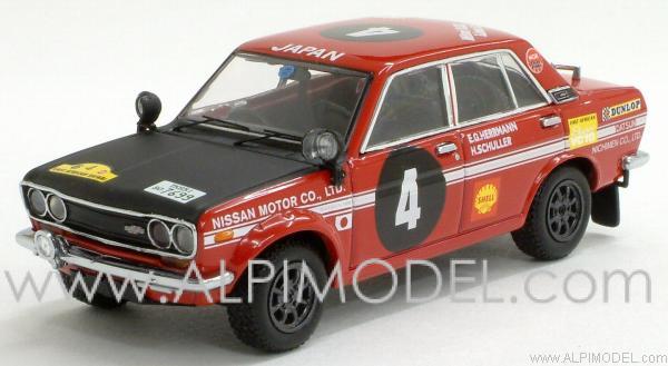 Ebbro Nissan Bluebird Winner Safari Rally 1970 Herrmann
