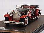 Rolls Royce Phantom II Brewster Newmarket Permanent Sport Sedan Cabriolet open 1932 (Black/Red) by GLM MODELS