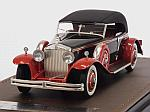 Rolls Royce Phantom II Brewster Newmarket Permanent Sport Sedan Cabriolet closed 1932 (Black/Red) by GLM MODELS