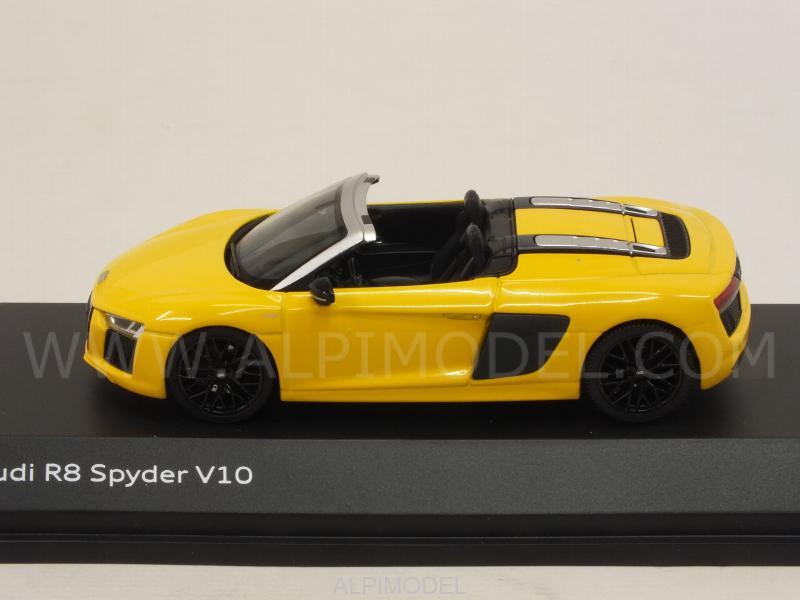 Herpa Audi R8 Spyder V10 Vegas Yellow Audi Promo 1 43