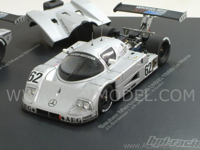 hpi racing sauber c9 mercedes set 61 62 63 le mans 1989 3 cars 1 43 scale model. Black Bedroom Furniture Sets. Home Design Ideas