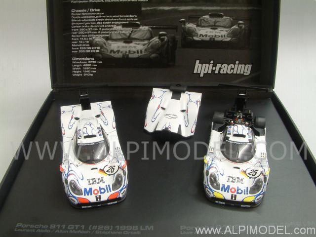hpi racing porsche 911 gt1 set 26 25 winner le mans 1998. Black Bedroom Furniture Sets. Home Design Ideas