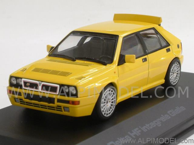 hpi-racing lancia delta hf integrale 1993 (yellow) (1/43 scale model)