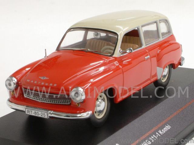 Car Models >> ist-models Wartburg 311-1 Kombi 1962 (Red/White) (1/43 scale model)