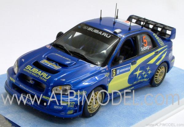 ixo models subaru impreza wrc rally sweden 2005 petter solberg 1 43 scale model. Black Bedroom Furniture Sets. Home Design Ideas