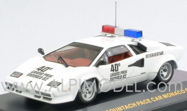 Ixo Models Lamborghini Countach Pace Car Monte Carlo Gp 1982 1 43 Scale Model