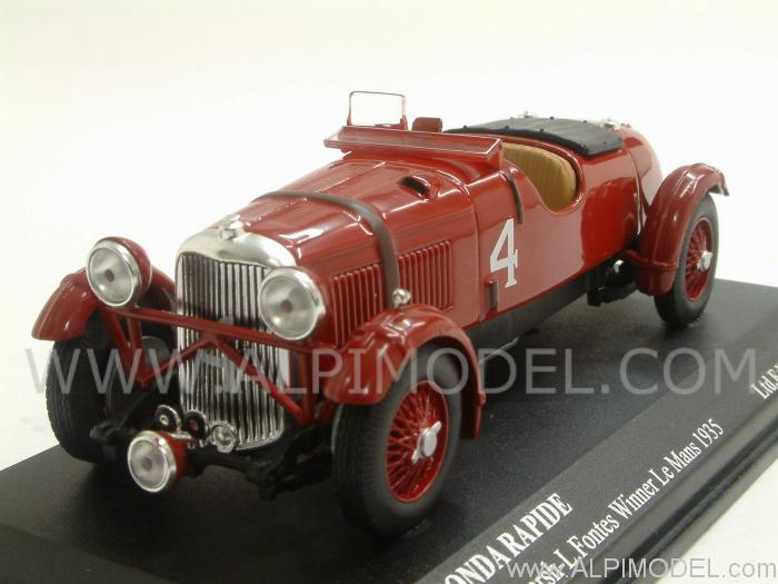 ixo models lagonda rapide 4 winner le mans 1935 hindmarsh fontes 1 43 scale model. Black Bedroom Furniture Sets. Home Design Ideas