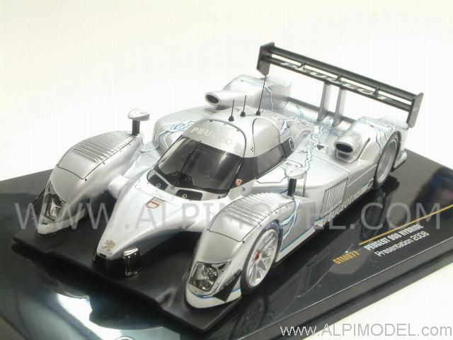 ixo models peugeot 908 hybride presentation 2008 1 43 scale model. Black Bedroom Furniture Sets. Home Design Ideas