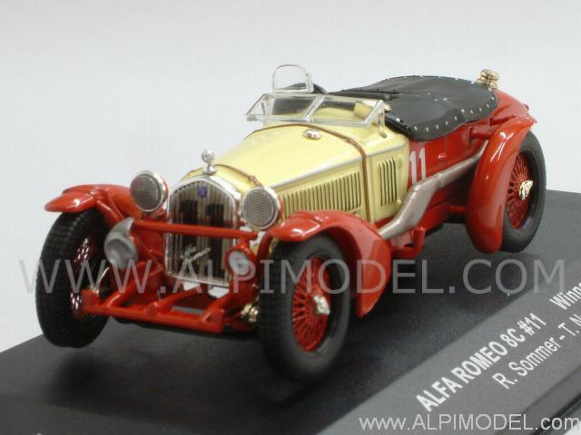 ixo models alfa romeo 8c 11 winner le mans 1933 r sommer t nuvolari 1 43 scale model. Black Bedroom Furniture Sets. Home Design Ideas
