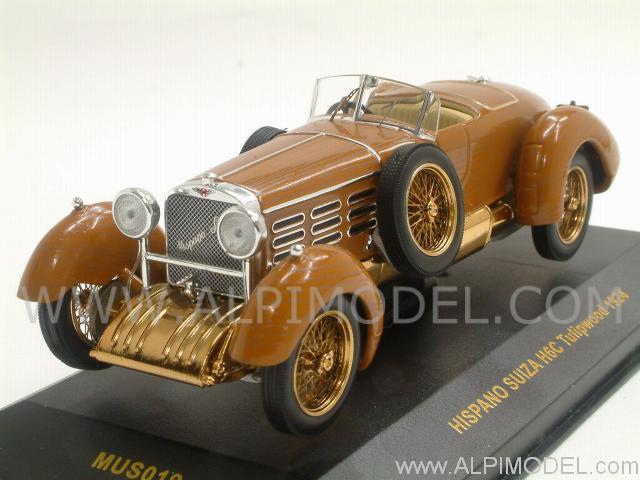 Ixo models hispano suiza h6c tulipwood 1924 1 43 scale model for Hispano international decor llc