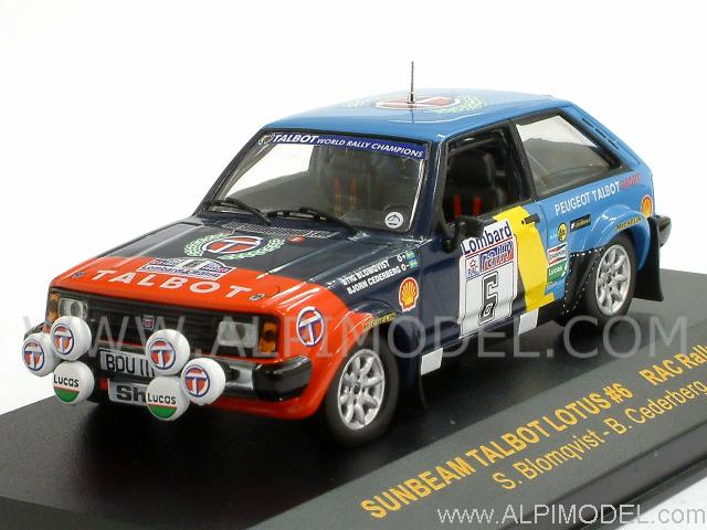 1:18 Ixo Talbot Sunbeam Lotus #6 RaC Rally Blomqvist//Cederberg 1982