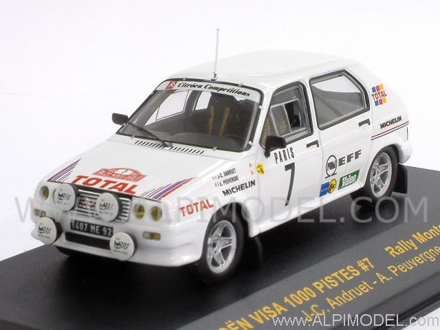 ixo models citroen visa 1000 pistes 7 rally monte carlo 1985 andruet peuvergne 1 43 scale model. Black Bedroom Furniture Sets. Home Design Ideas