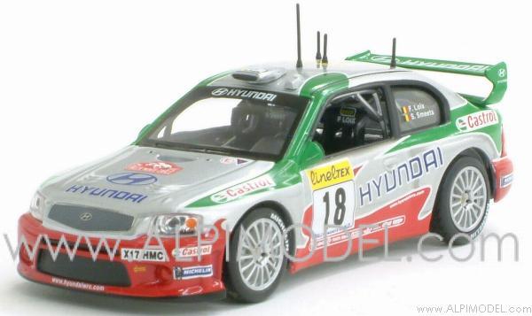 ixomodels hyundai accent wrc evo2 rally monte carlo 2002