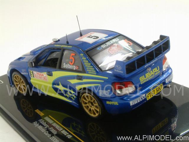 Die cast 1//43 Modellino Auto Subaru Impreza WRC Rally Monte Carlo 2008 P.Solberg
