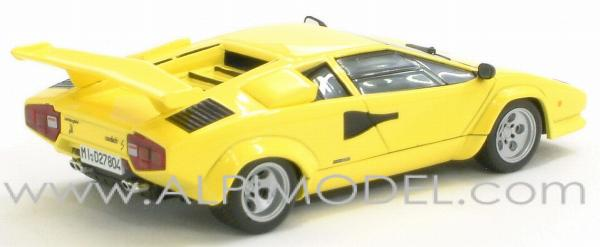 ixo models lamborghini countach lp 500s yellow special version limited edition 1 43 scale. Black Bedroom Furniture Sets. Home Design Ideas