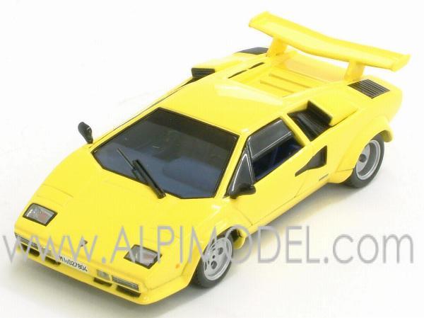 ixo models lamborghini countach lp 500s yellow special. Black Bedroom Furniture Sets. Home Design Ideas