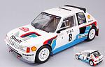 Peugeot 205 T16 #8 Rally Monte Carlo 1985 Saby - Fauchiille by IXO MODELS